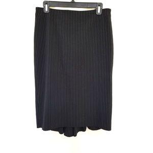 BCBG Max Azria Size 6 Black White Straight Skirt